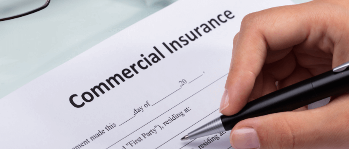 Commercial insurance document