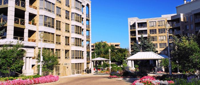Exterior of a condominium complex