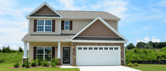Two-story newly constructed home