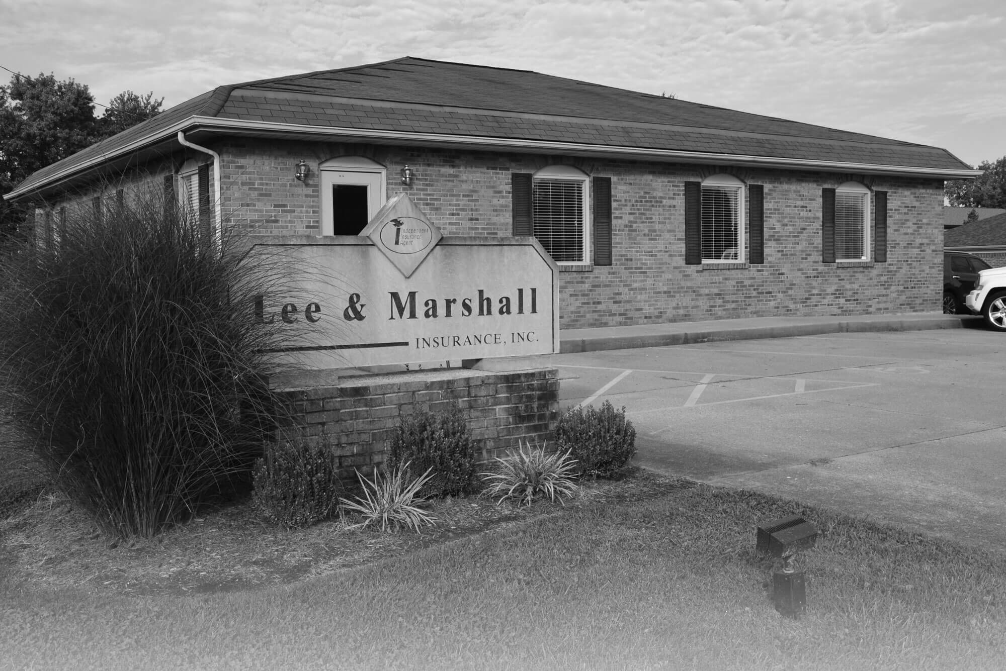 Lee & Marshall Building Exterior - B&W