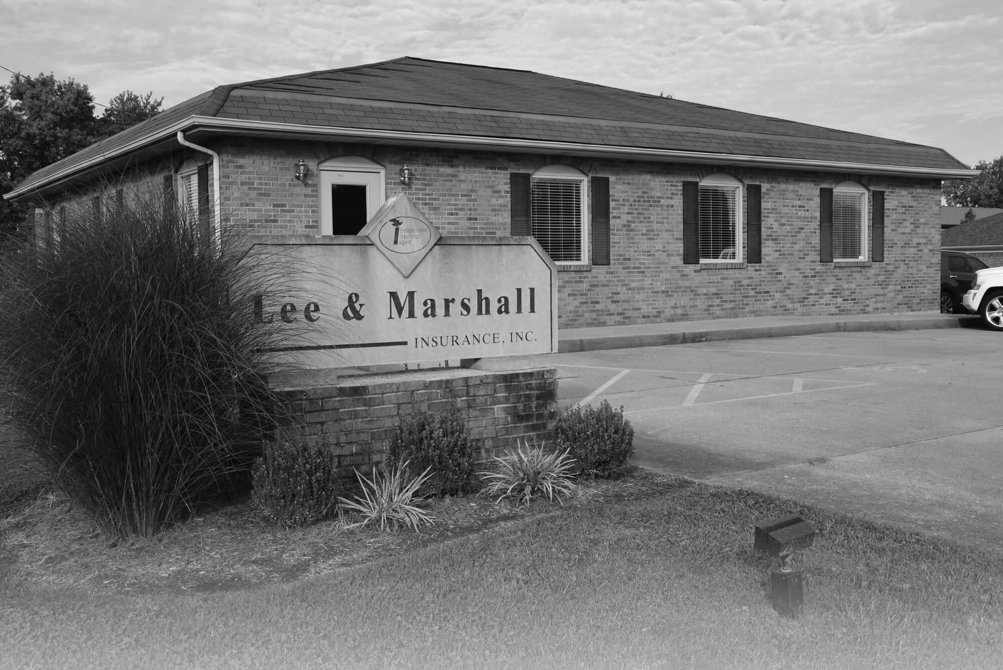 Lee & Marshall Building Exterior - B&W